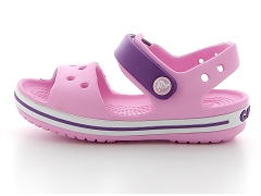 BRECOCO BLANC F2695A C CROCBAND SANDAL KIDS 12856:Rose/Carnation/Synthétique/Synthétique/Plat