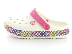 VENISE 20174003 ETOILE BL C CROCBAND GALLERY CLOG K OYS:Blanc/Blanc/Synthétique/Synthétique/Plat