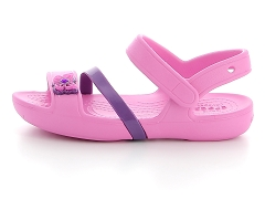 C CROCS LINA SANDAL K PTPK<br>Rose Party pink Synthétique Synthétique Plat