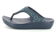 C SLOANE BEADED FLIP NVY TUR<br>Bleu Navy turquoise Synthétique Synthétique 3,5 cm