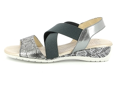 WOZEL UP685 OR PLATINO VALOUS 4061 PLOMB:Gris/Plomb/Cuir/Cuir/4 cm