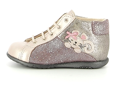 CHAT NELLY BLK_N BOP ZOURILO ROSE:Rose/Rose/Cuir/Cuir/Plat