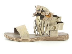 65108 BEBE OR DICO 6609 TAUPE:Taupe/Taupe/Cuir/Cuir et textile/Plat
