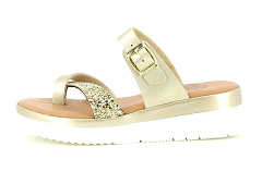FLUBOMBY F1178 SURF IGEAS 282 A  311 BEIGE:Or/Beige/Cuir/Textile/4,5 cm