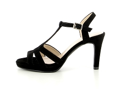 STOCE BETTY 02 BLK BRESEUL 1427:Noir/Velours noir/Cuir/Cuir/9 cm