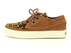 STOCE BETTY 02 BLK SONAR INDIAN W TAN COGNAC:Marron/Tan cognac/Textile/Textile/Plat
