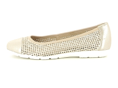 GERANCE BLANC CAPSUCRO 22151 354:Or/Taupe/Cuir/Synthétique/Plat