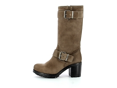 MADRID GALAXY FEM ETT BJORK:Marron/Taupe suede/Cuir/Cuir et synthétique/7 cm