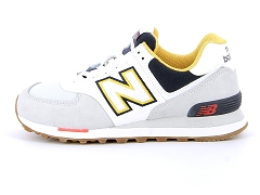 NB 819421 60 ML574 D<br>Gris Grey white navy Textile Textile Plat