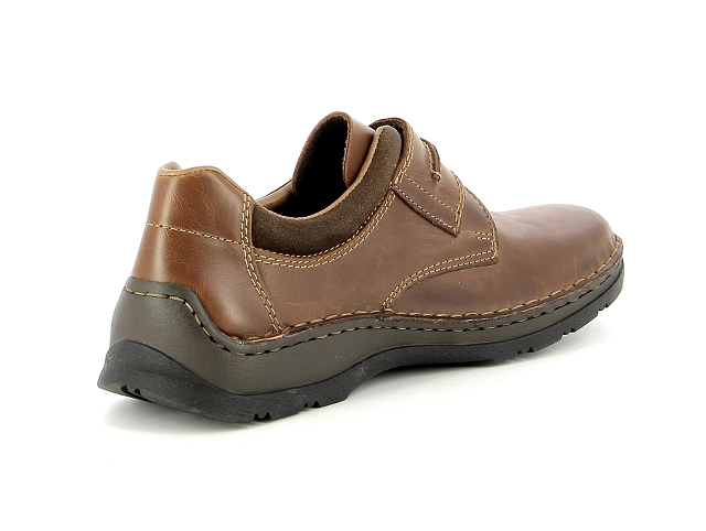 Rieker 15323 hommes suede Chaussure sneaker cuir marron NOUVEAU!