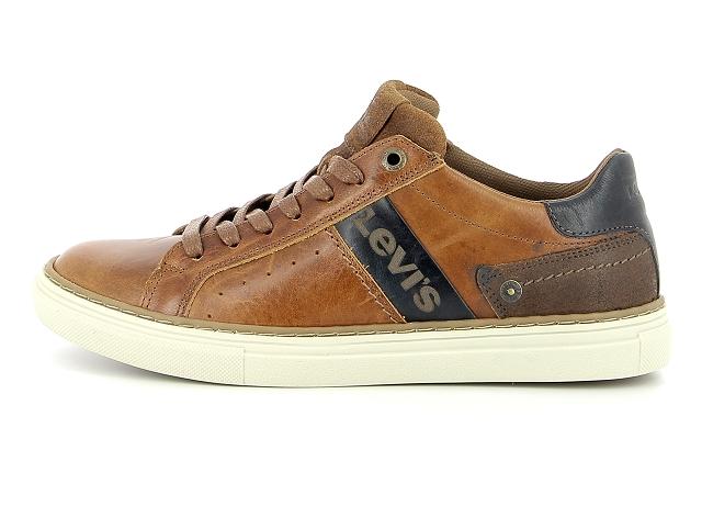 sneakers cuir marron homme