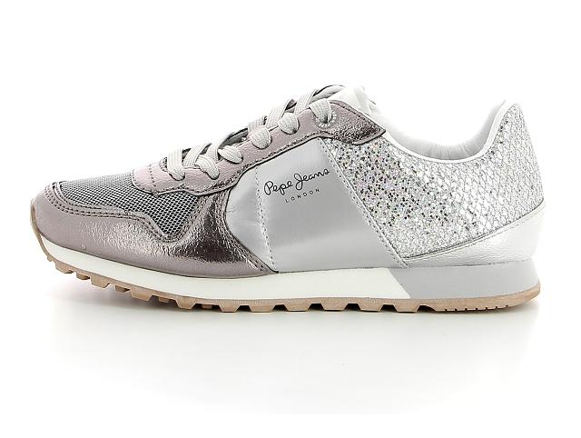 Pepe jeans pls30798 gris | basket tennis sneaker femme | ChaussGalerie